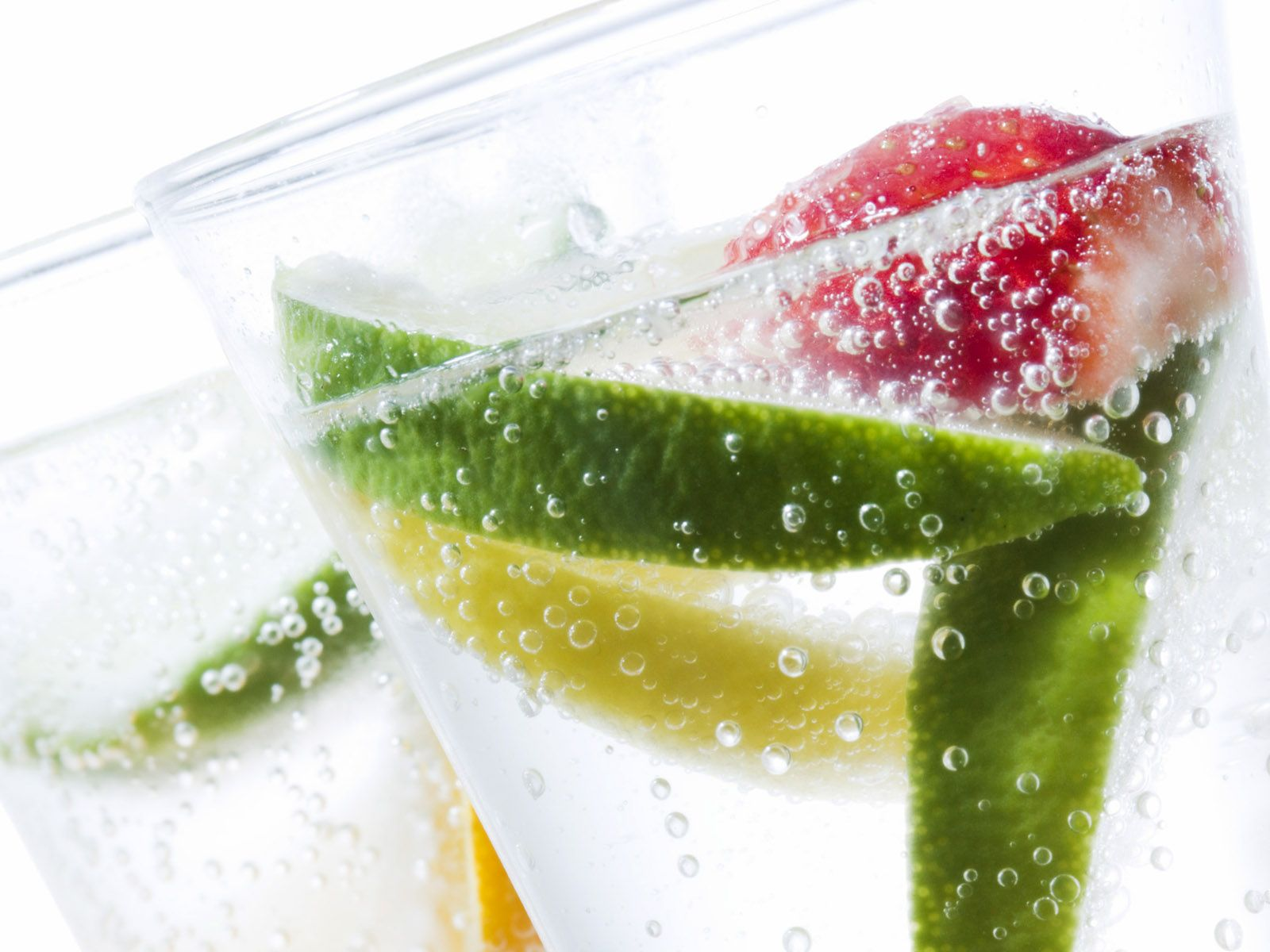 fresh fruits in a glass